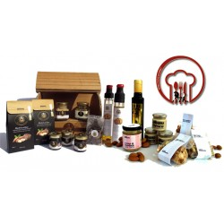 Gourmet Deluxe 18pz - Gastronomic specialties Sicily Almonds, Truffle Oil, honey, figs, cream, chocolate