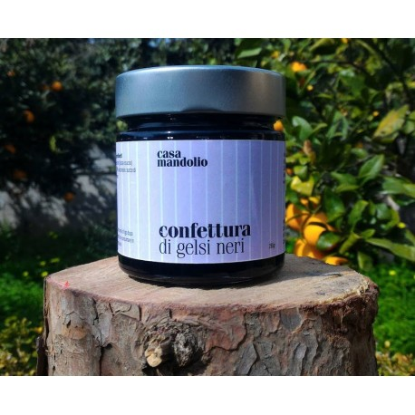Black Mulberry Jam 280 gr - Sicilian Gourmet Specialty