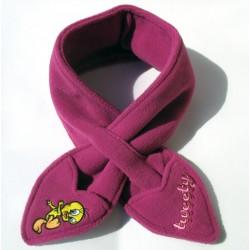 Cappello rosa pastello + Scaldacollo sciarpa bambina Tweety (Looney Tunes), tg 52 - Fashion Style