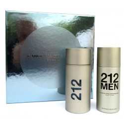 Confezione Profumo Uomo 212 Carolina Herrera New York EDT 100ml + Deodorante spray 150ml