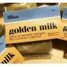 Golden Milk 250g, panetto di mandorle bio al 55%,con curcuma, piperina, zucchero di canna. tripudio di bontà golosa genuina