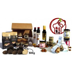 Gourmet Deluxe 20pcs + 500g, Gastronomic Specialties Sicily: Almonds, Truffle Oil, honey, figs, cream, pate, chocolate