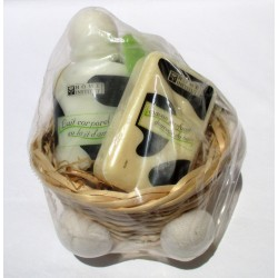 Set bellezza Latte Corpo Mandorle + Sapone The Verde + Spugna frutta Home Institut