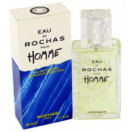 Eau de Rochas Homme by Rochas for men 50ml - Original RARE France Parfum