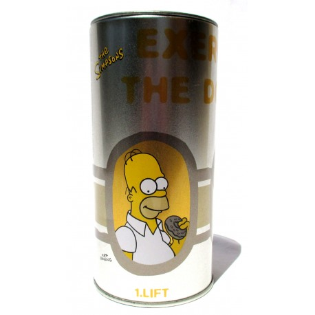 Salvadanaio The Simpsons Exercise the donut curl of Homer: Vintage Rare
