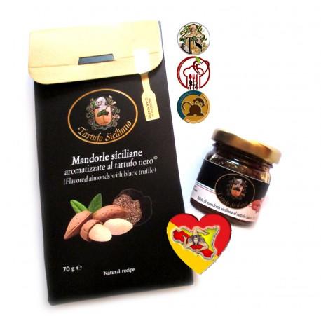 Aperitivo sfizioso con Mandorle siciliane al Tartufo Nero + Miele al tartufo Bianco
