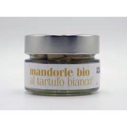 Органический миндаль, очищенный и обжаренный со вкусом белого трюфеля 80 гр - SICILY