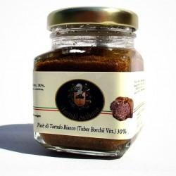 Patè Tartufo Bianco pregiato (30% Tuber Borchii Vitt.) con mandorle - 70gr Bio Gourmet