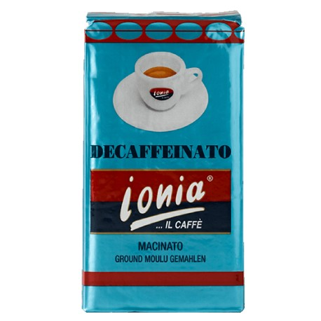 Caffè Ionia Decaffeinato macinato 250g, Miscela di Sicilia   Catania Etna