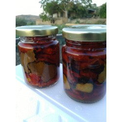 Jar in olive oil dried cherry tomato with Black Summer Truffle SICILIAN specialty