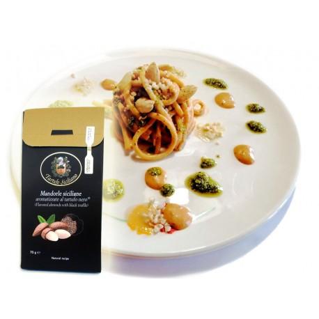 Mandorle al Tartufo Bianco 70g ideali per snack sfiziosi o primi piatti gourmet