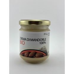 Sicilian ALMOND cream 100% Organic 180gr without added fat and sugar