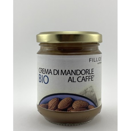 Crema di MANDORLE Siciliane biologiche al caffè 190gr
