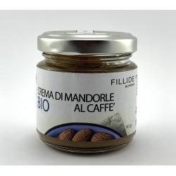 Crema di MANDORLE Siciliane biologiche al caffè 90gr per colazione e preparazioni dolci