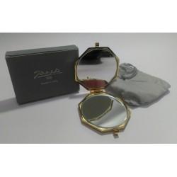 Janeke 1830 Specchietto da borsa Donna ottagonale oro sacca -DBL