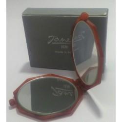 Janeke 1830 specchio da borsa ottagonale colore marrone donna