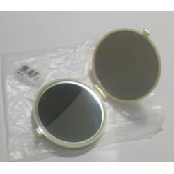 Janeke 1830 specchio da borsa colore bianco/beige plastica