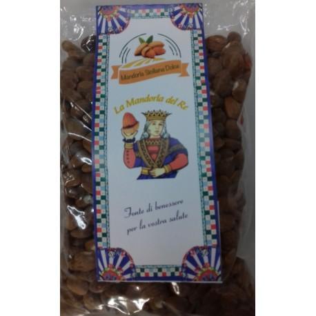 Mandorle siciliane sgusciate biologiche 500gr, Mandorla siciliana dolce frutta secca