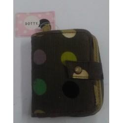 Camomilla Clip Wallet Cor Donna Portafoglio di stoffa verde con poins