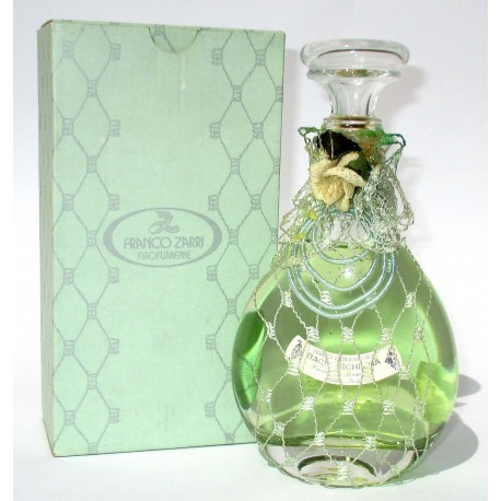Bottiglia Decorativa in vetro raffinato design riempite con bagni schiuma 200ml (Verde) - Franco Zarri