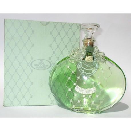 Bottiglia Decorativa in vetro raffinato design riempite con bagni schiuma 500ml (Verde) - Franco Zarri