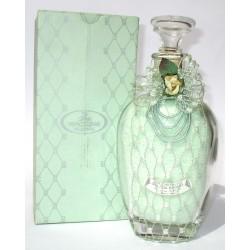 Bottiglia Decorativa in vetro raffinato design riempite con profumatissimi sali da bagno marini 550g (Verde) - Franco Zarri