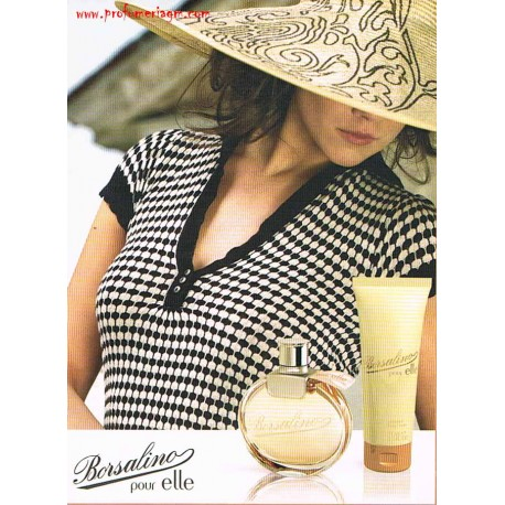 Borsalino Pour Elle Borsalino for women 50ml Eau de Parfum EDP + perfumed body cream 75ml - Confezione Regalo
