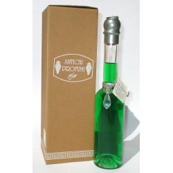 Bottiglia Decorativa in vetro raffinato design riempite con bagno schiuma 200ml (Verde) - Clar