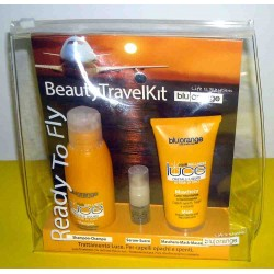 TRATTAMENTO LUCE: Shampoo Luce 100ml + Maschera Nutrimento 50ml + Siero cristalli 5ml Capelli - Blu Orange