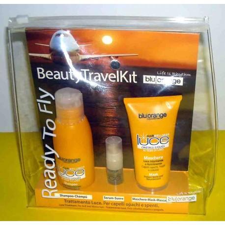 TRATTAMENTO SMOG REPAIR: Shampoo Fortificante 100ml + Maschera Rivitalizzante 50ml + Spray Ritrutturante Capelli - Blu Orange