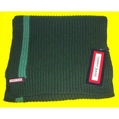 Sciarpa Tommy Jeans colore verde prato - Made in Italy