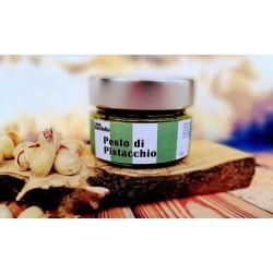 Pesto de pistacho 80% extra con Aceite de Oliva Virgen Extra Ecológico 120gr SICILIA