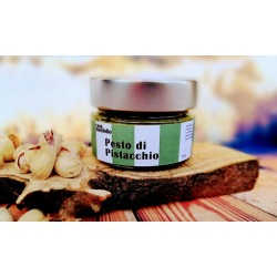 Pistachio Pesto 80% extra with Organic Extra Virgin Olive Oil 120gr SICILY