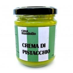 Crème de pistache sucrée 60% avec sucre de canne et huile EVO 190gr - Greedy Sicily