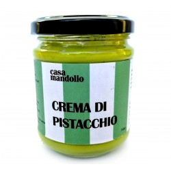 Sweet Pistachio Cream 60% with Cane Sugar and EVO Oil 190gr - Greedy Sicily