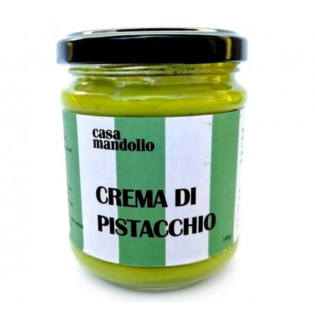 Crema dolce di Pistacchio 60% con Zucchero di Canna e Olio EVO 190gr - Sicilia golosa