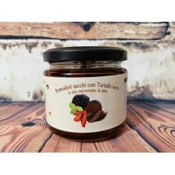 Vasetto 50gr sott'olio pomodoro secco ciliegino al Tartufo Nero Estivo specialità SICILIANA