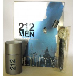 212 Men Carolina Herrera for men Eau de Toilette 50ml EDT + orologio sport watch blu