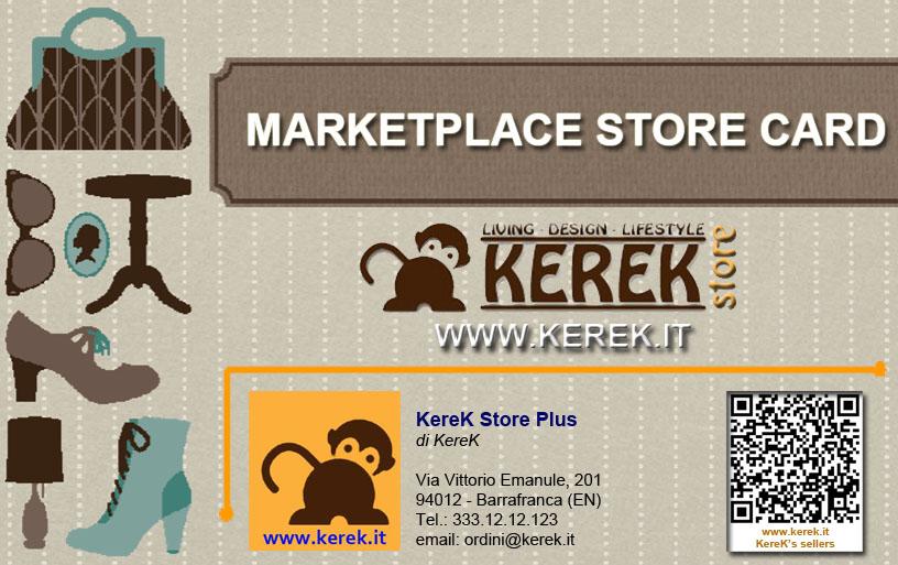 Bigliettino da visita KereK Store Plus demo
