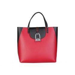 Borsa a mano La Martina BLACK BROWN - Shopping bag eco-pelle L63PW3580042