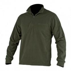 Felpa pile BERETTA colore verde militare manica lunga collo alto mezza zip M,L