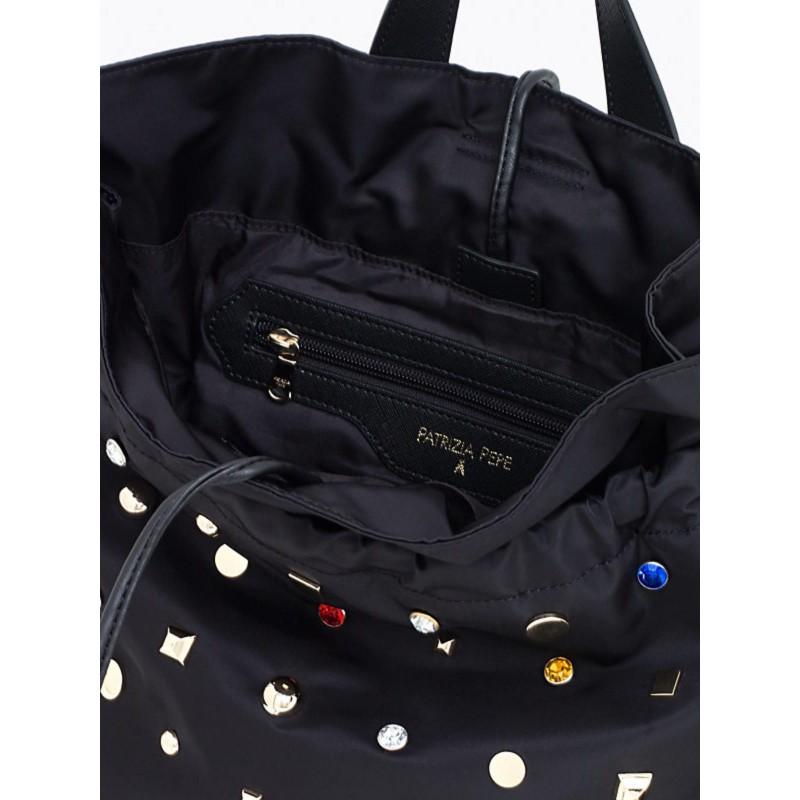 Black Patrizia Borsa Bag Rivets Pepe 2V6595A2XI tsdhrCxBQ