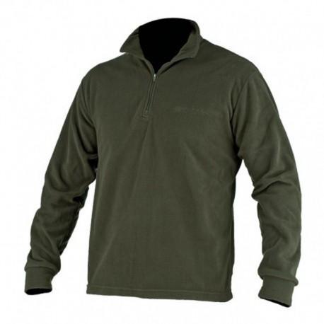 Felpa in pile BERETTA colore verde militare manica lunga collo alto mezza  zip M 34ad1a32da59