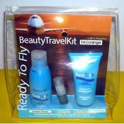 READY TO FLY: Shampoo Rivitalizzante 100ml + Maschera Elasticizzante 50ml + Siero 5ml Ritrutturante Capelli Forma e Controllo
