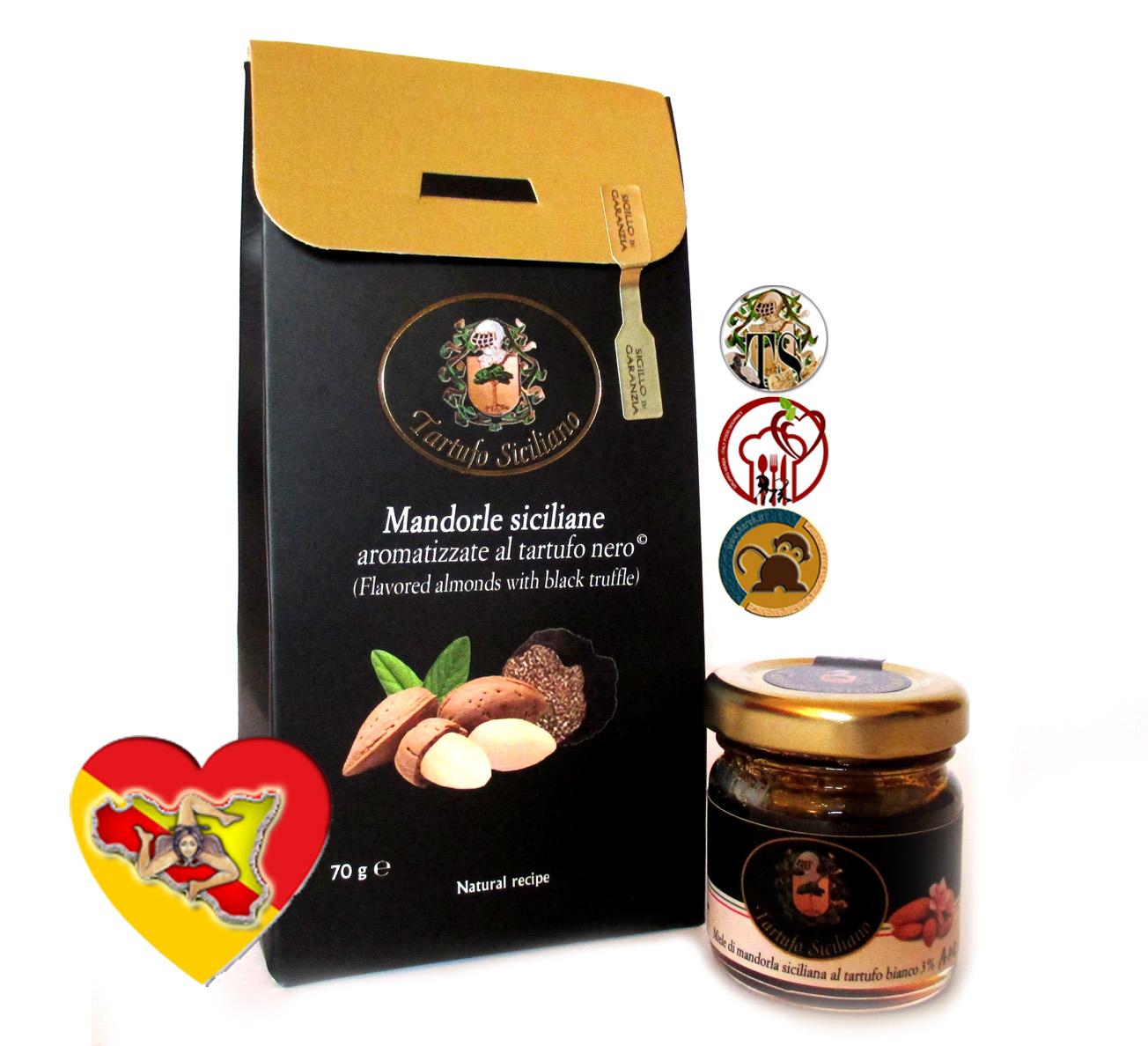 Aperitivo, quelli sfiziosi: Aperol Spritz, Mandorle siciliane al Tartufo, miele al tartufo bianco e cubetti di formaggio